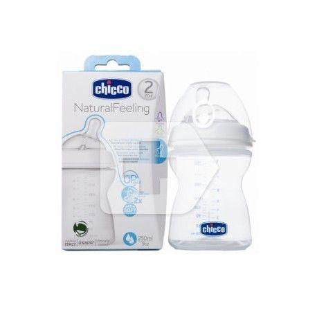 Chicco Biberon Natural Feeling Silicona +2 M Flujo Medio 250 ml