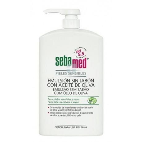 Sebamed Emulsion Sin Jabon con Aceite de Oliva 1000 ml