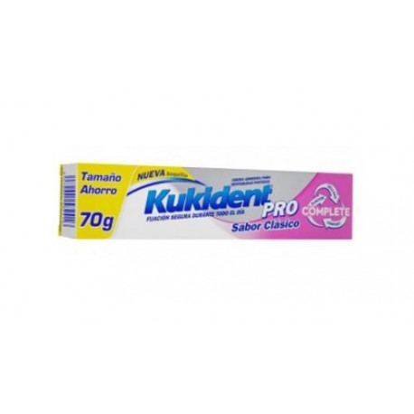 Kukident Pro Complete Crema Adhesiva Savor Clasico 70 gr