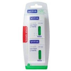Vitis Seda Dental con Fluor y Menta 2 uds 50 M