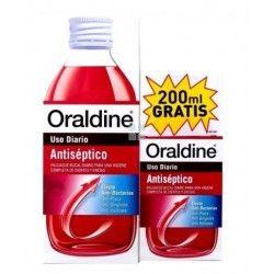 ORALDINE ANTISEPTICO PACK USO DIARIO 400 ML +200 ML GRATIS