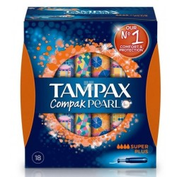 TAMPAX COMPACK PEARL SUPER PLUS 16 UNIDADES