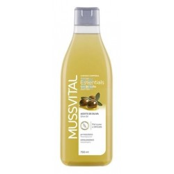 MUSSVITAL ESSENTIALS DE GEL BAÑO DE ACEITE OLIVA 750 ML