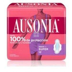 AUSONIA COMPRESA SUPER CON ALAS 12 UNIDADES