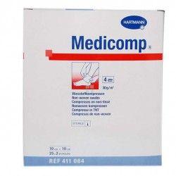 MEDICOMP NON-WOVEN GASA ESTERIL 10 X 20 CM 25 UNIDADES