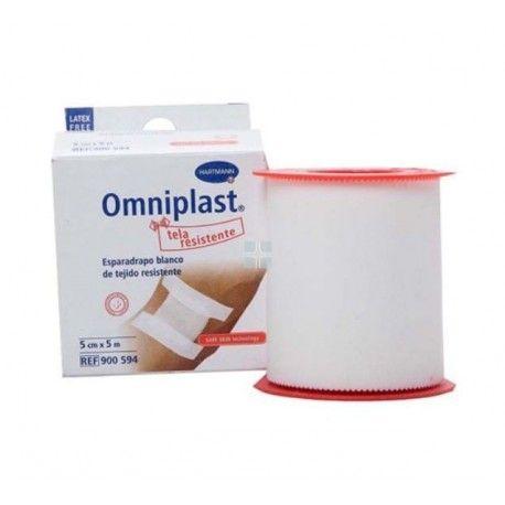 Esparadrapo Omniplast Blanco de Tela  5 m x 5 M