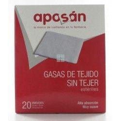 APOSAN GASAS TEJIDO SIN TEJER 10CM X 10 CM 20 GASAS (2UD/SOBRE)