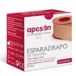 APOSAN ESPARADRAPO DE TELA PIEL 5X2,5 CM