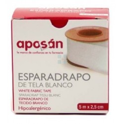 APOSAN ESPARADRAPO DE TELA BLANCO 5X2,5 CM