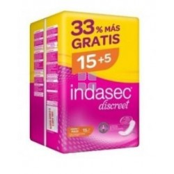 Indasec Discreet Maxi 15 uds + 5 gratis