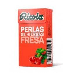RICOLA PERLAS SIN AZUCAR FRESA 25 GRAMOS