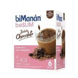 Bimanan Beslim Batido Chocolate 6 Sobres