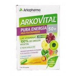 ARKOVITAL PURA ENERGIA 50+ MULTIVITAMINAS 60 CAPSULAS