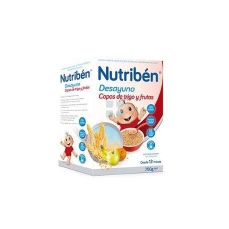 Papilla Nutriben Desayuno Copos de Trigo y Frutas 750 gr