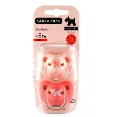 Suavinex Chupete Rosa Latex Anatomico 6-18M 2 uds