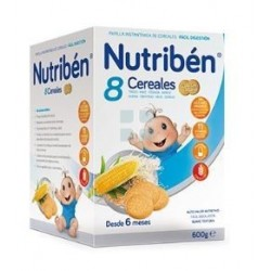 NUTRIBEN PAPILLA 8 CEREALES GALLETA MARIA 600 GR