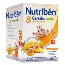 PAPILLA NUTRIBEN 8 CEREALES MIEL FRUTAS 600GR