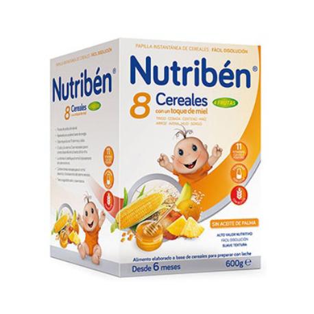 Papilla Nutriben 8 Cereales Miel Frutas 600 gr