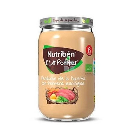 Nutriben Ecopotito Verdura y Ternera 235 gr