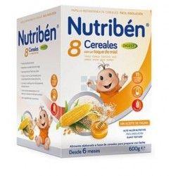NUTRIBEN PAPILLA 8 CEREALES MIEL DIGEST 600 GR