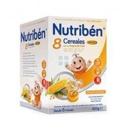 Nutriben Papilla 8 Cerelaes Miel + Fibra 600 gr