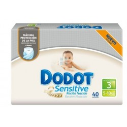 DODOT SENSITIVE PROTECTION PLUS TALLA 3 (5 - 10 KG) 40 UNIDADES
