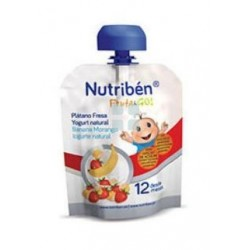 Nutriben Fruta & Go Platano Fresa yogurt Natural 90 gr