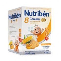 Papilla Nutriben Papilla 8 Cereales y Miel Galleta 600 gr
