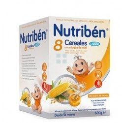 NUTRIBEN PAPILLA 8 CEREALES MIEL + CALCIO 600 GR