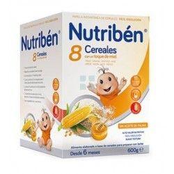 NUTRIBEN PAPILLA 8 CEREALES MIEL 600 G