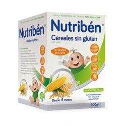 NUTRIBEN PAPILLA CEREALES SIN GLUTEN 600 GR