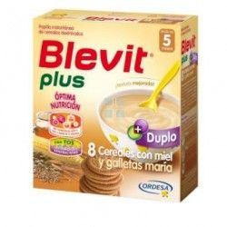 BLEVIT PLUS DUPLO 8 CEREALES CON MIEL Y GALLETAS MARIA 2X300 GR