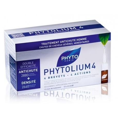 Phytolium 4 Tratamiento Anti -  Caida Estimulador de Crecimiento 12 Ampollas