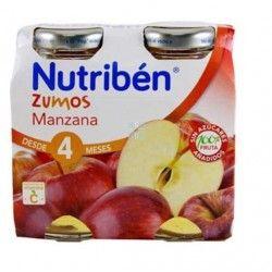 NUTRIBEN ZUMO MANZANA DUPLO 130 ML