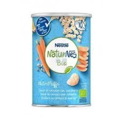 Nestle Naturnes Bio Nutripuffs Cereales con Zanahoria Snack 35 gr