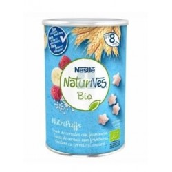Nestle Naturnes Bio Nutripuffs Cereales con Frambuesa Snack 35 gr