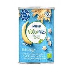 Nestle Naturnes Bio Nutripuffs Cereales con Platano Snack 35 gr