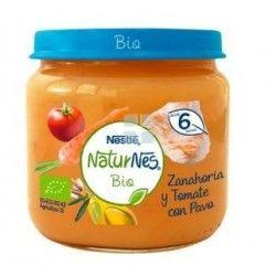Nestle Naturnes Bio Tarrito Zanahoria Tomate y Pavo 200 gr