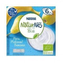 Nestle Naturnes Bio Postre Lacteo Platano y Pera 4 x 90 gr