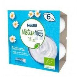 Nestle Naturnes Bio Postre Lacteo Natural 4 x 90 gr