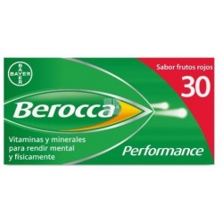 Berocca Performance Frutos Rojos 30 Comprimidos Efervescentes