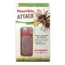 Repel Bite Attack Pulsera Aromatica Citronela 1 Pulsera + 2 Recambios