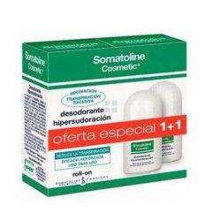 SOMATOLINE COSMETIC DESODORANTE HIPERSUDORACION ROLL-ON 2X40ML