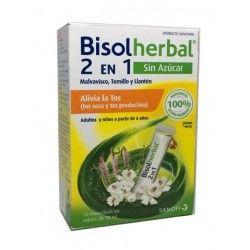 Bisolherbal 2 en 1 Sin Azucar Tos Seca y Productiva 12 Sobres