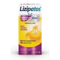 Lizipatos 2 en 1 Garganta + Tos Seca Malvavisco y Miel 100 ml