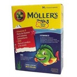 Mollers Peces de Gominola Omega-3 45 uds Tuttifruti
