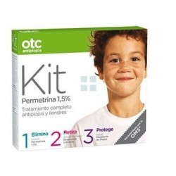 Otc Kit Antipiojos 1-2-3 Permetrina 1.5 % 125 ml