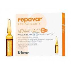 Repavar Revitalizante Vitamina C- Metaglicanos Flash Extreme 5 Ampollas