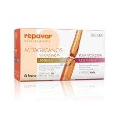 Repavar Revitalizante Vitamina C-Metaglicanos Antiedad 15 Ampollas