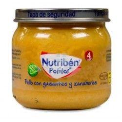 Nutriben Potito Pollo Guisantes Zanahoria 120 gr